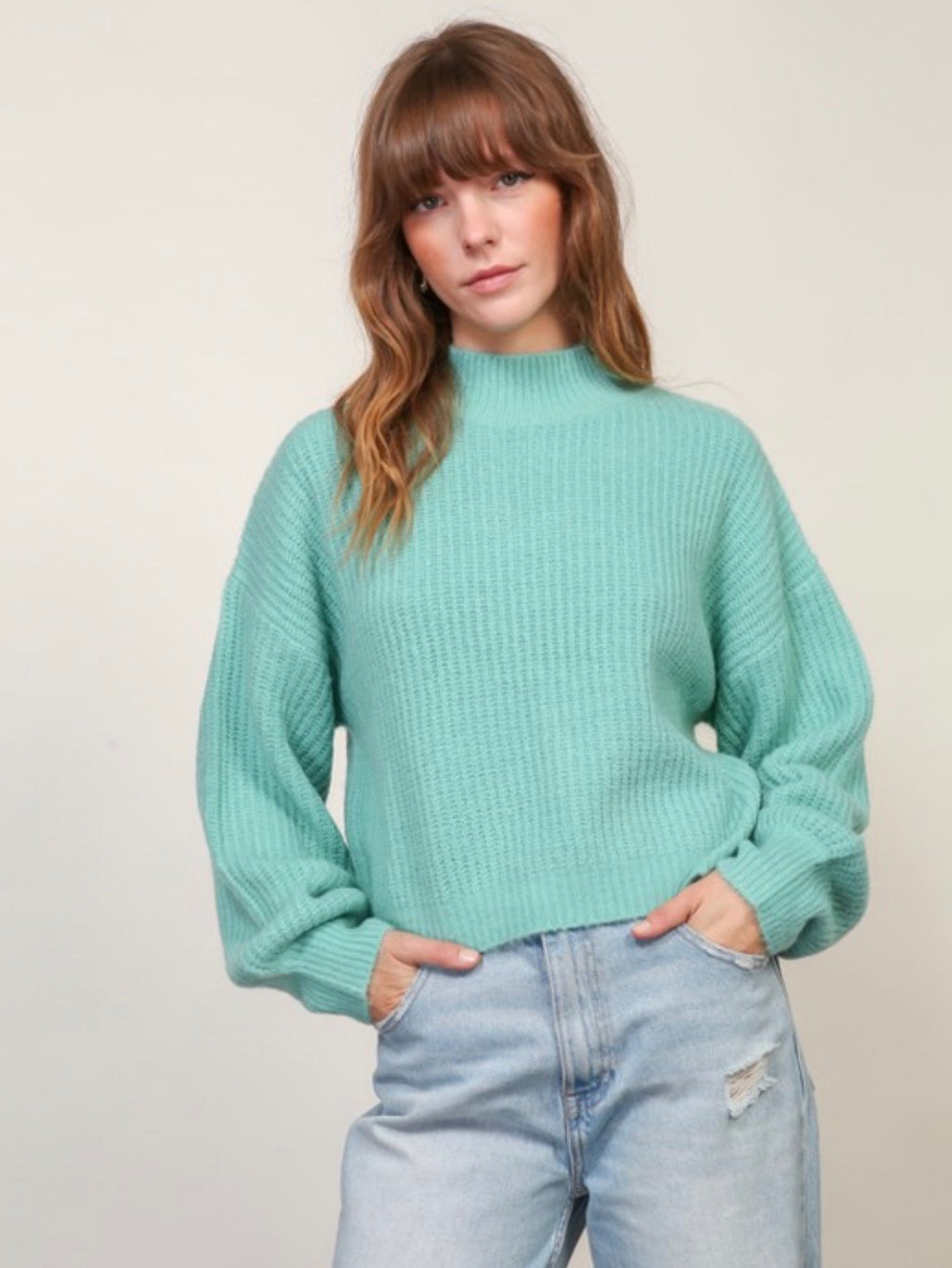 Jaded Mock Neck Sweater