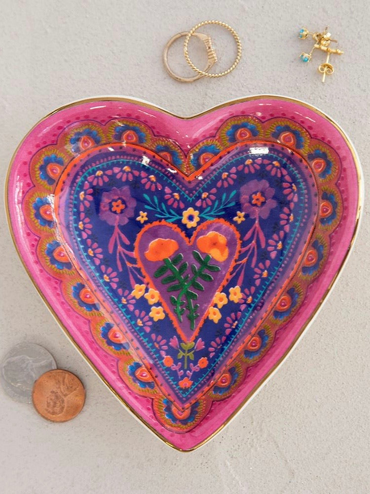 Bohemian Heart Trinket Bowl