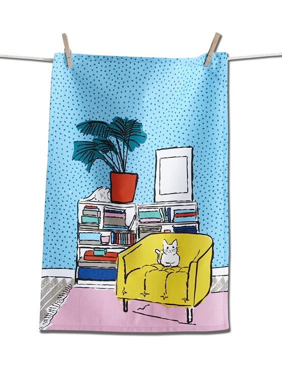 Spoiled Cat Tea Towel