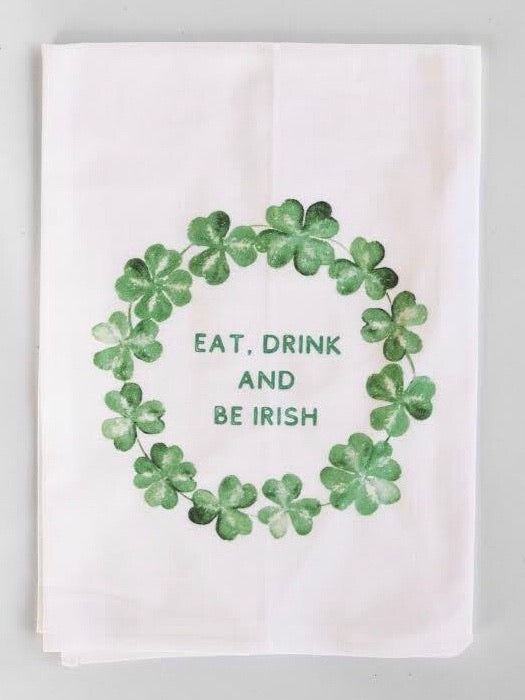 Lucky To Be Irish Flour Sack Towel