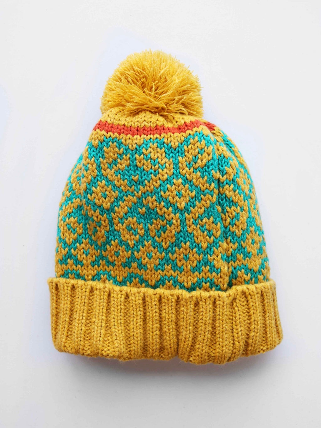 Fair Isle Hat- Mustard - FINAL SALE