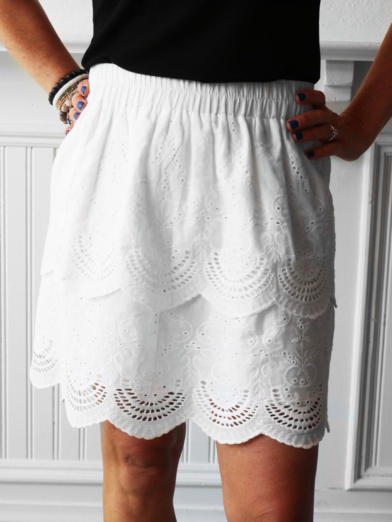Summer Scallops Skirt