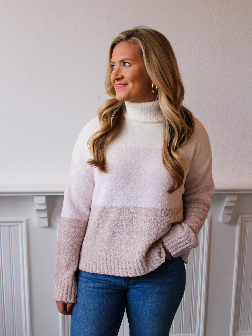 Vada Turtleneck Sweater - Lilac