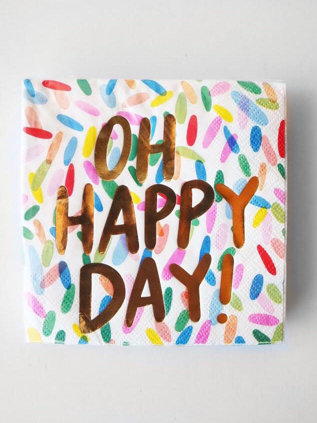 Oh Happy Day Cocktail Napkin