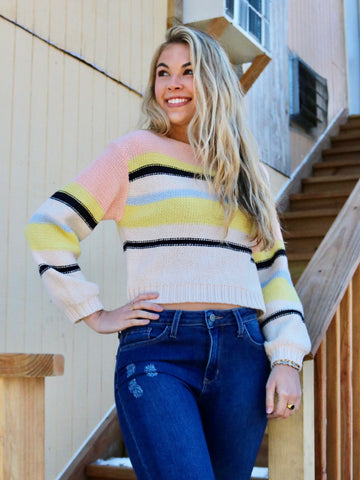 Sweetheart Striped Sweater