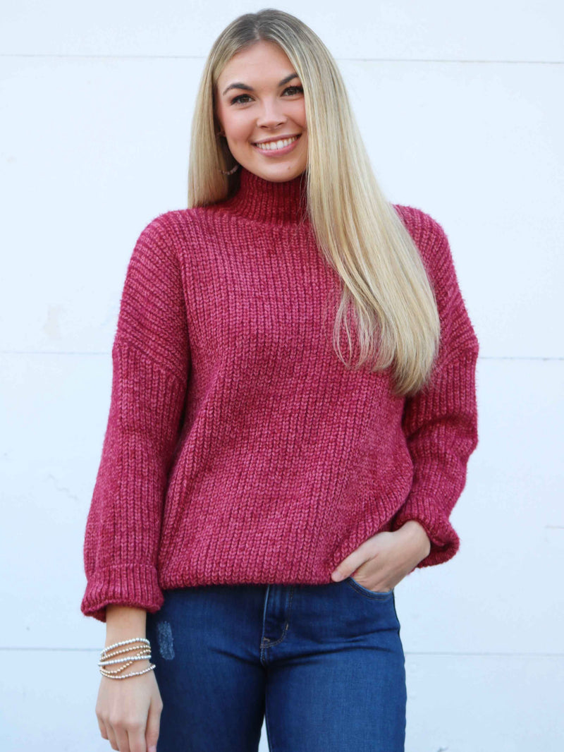 Love Story Sweater- Berry