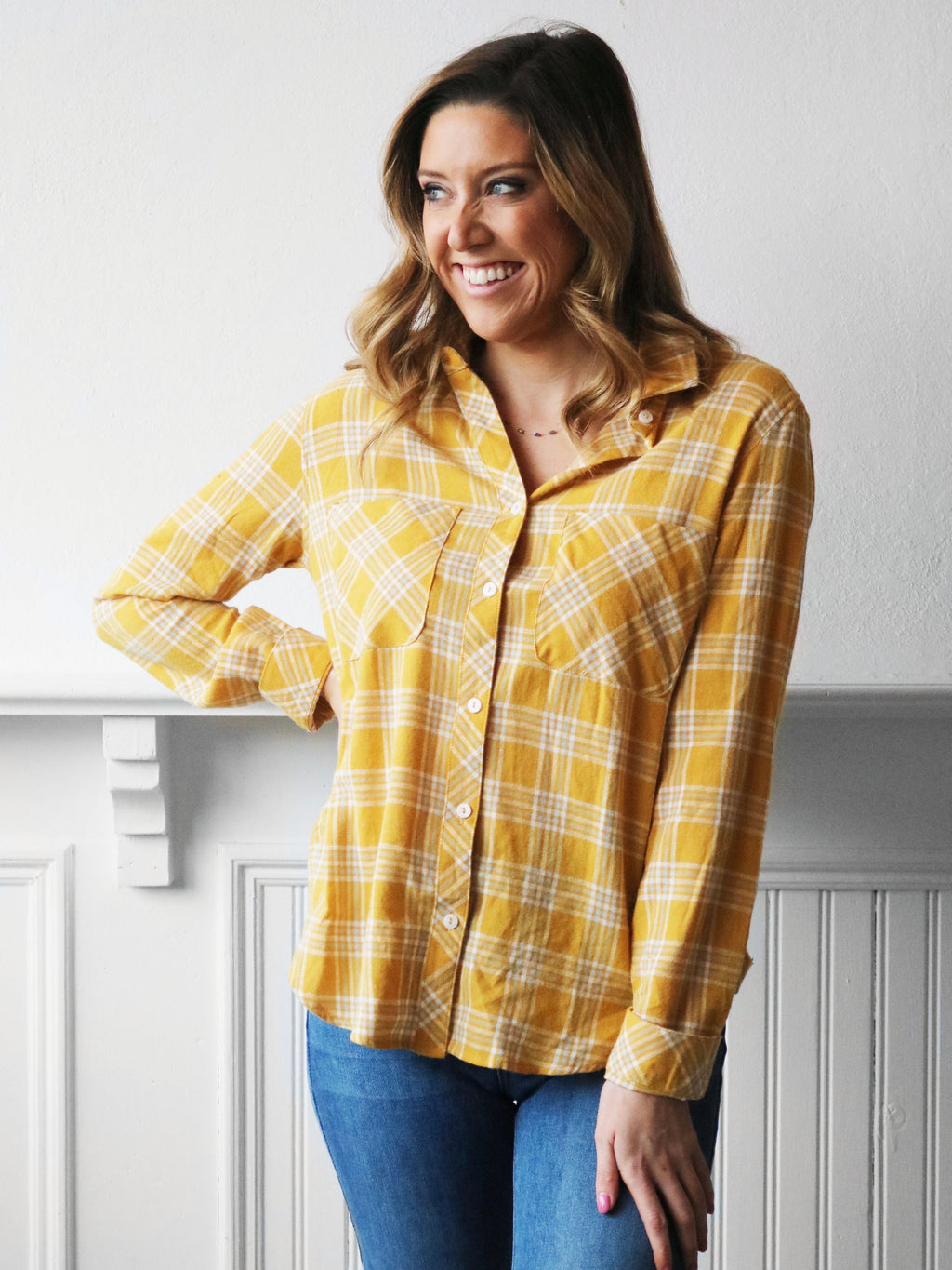 Plaid for You Flannel - Mustard