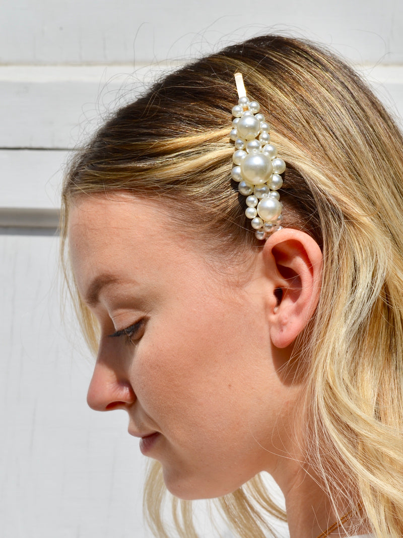 Sea Side Pearl Barrette