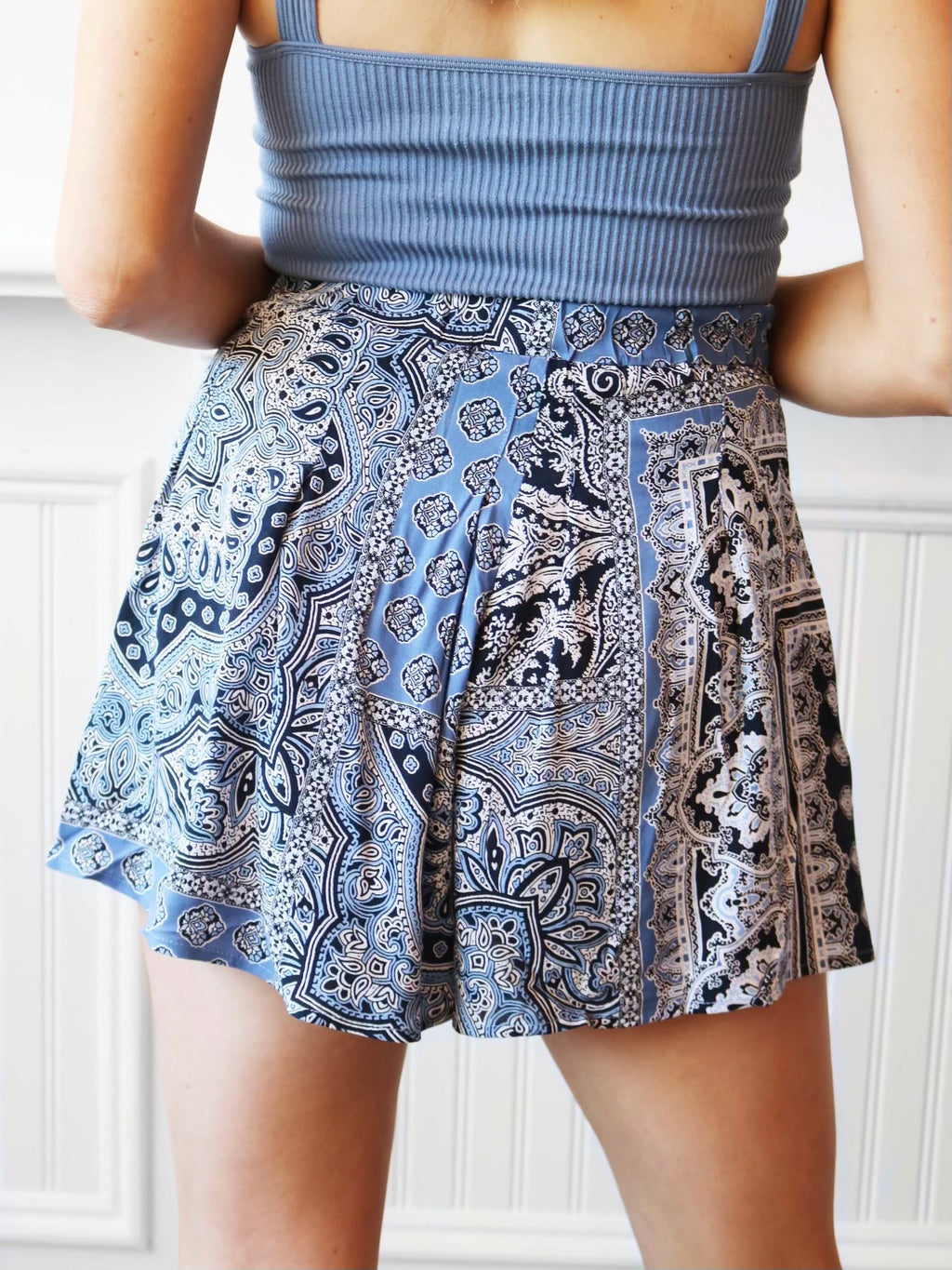 Polly Patchwork Printed Shorts