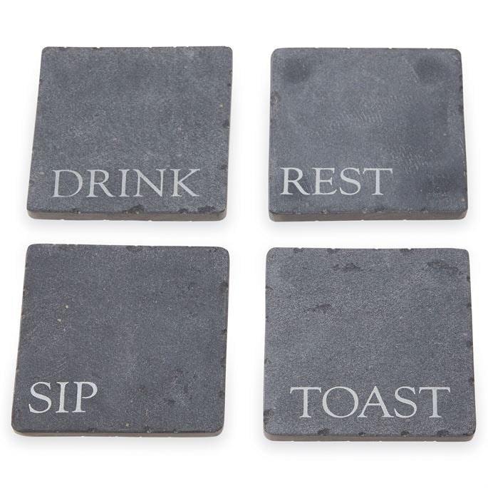 Slate Sentiment Coasters