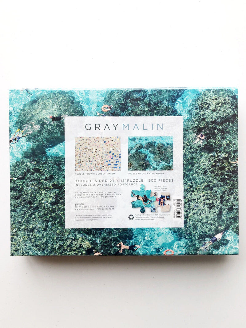 Gray Malin Beach Two-Sided Puzzle