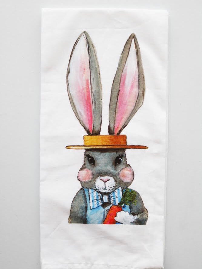 Mr. Rabbit Tea Towel