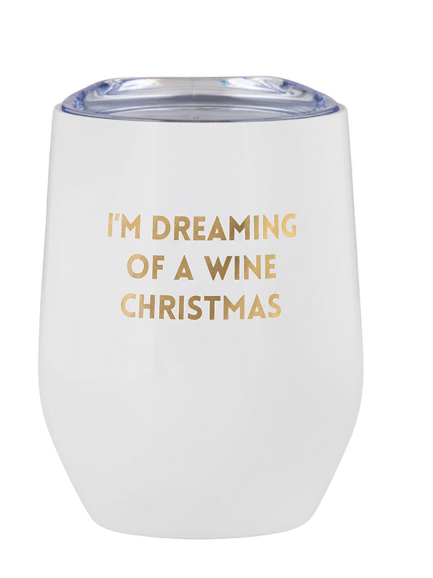 I'm Dreaming of a Wine Christmas Stemless Wine Tumbler