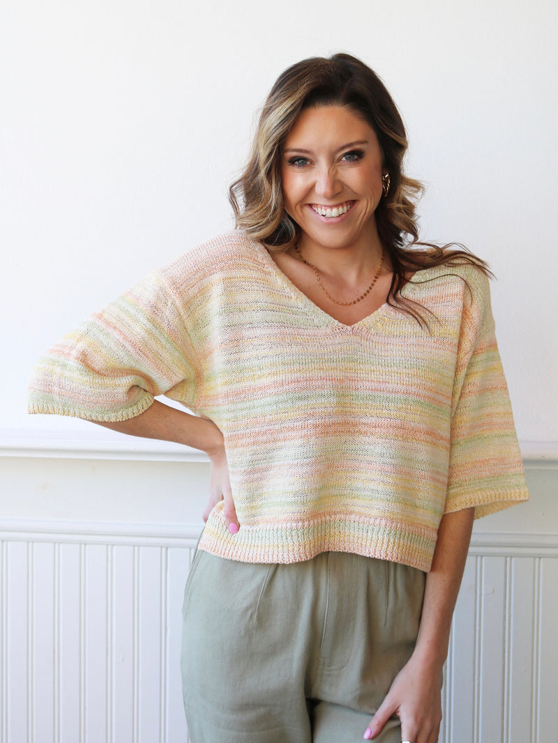 Sunset Stripes Knit Sweater