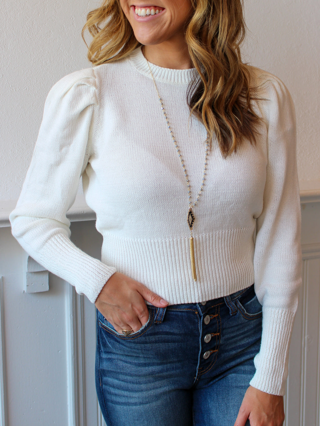 Just In Time Cropped Sweater