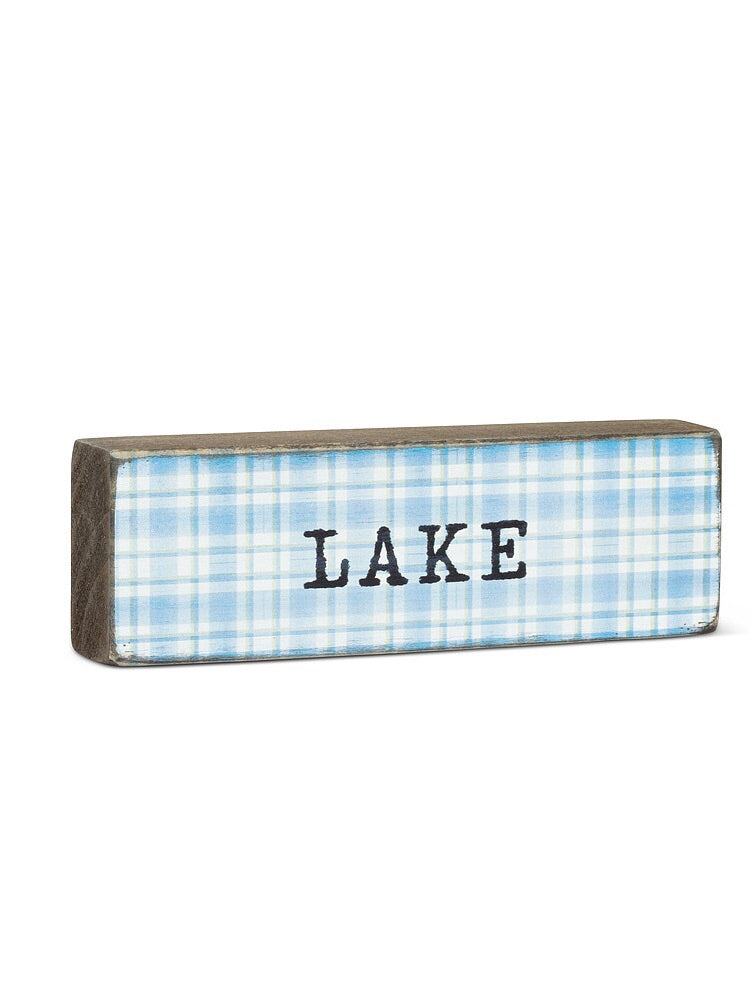 Lake Wooden Stackable Sign