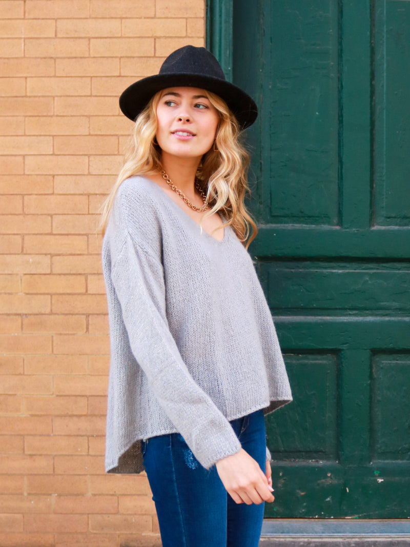 Grey Area V-Neck Sweater