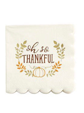 Oh So Thankful Cocktail Napkins