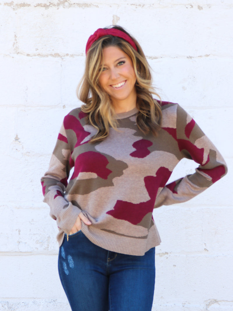 Game Changer Camo Sweater