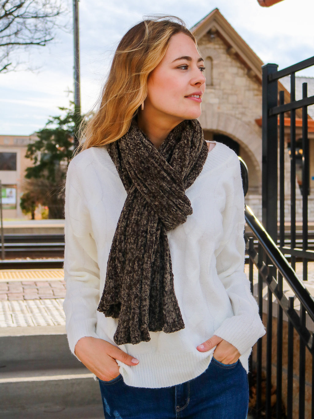 Fireside Memories Scarf- New Olive - FINAL SALE