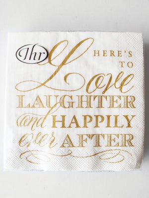 Happily Ever After Cocktail Napkin