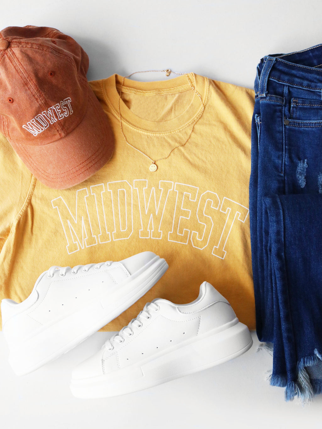 Midwest is Best Tee - Yellow