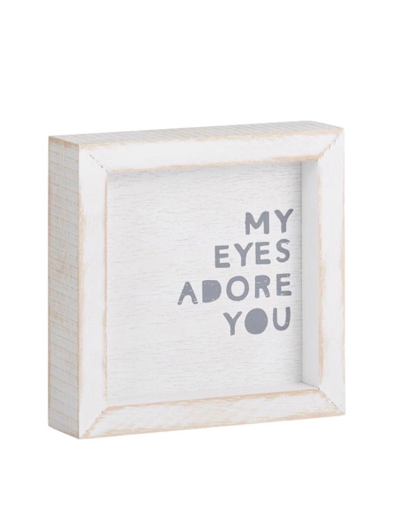 Adore You Block Sign