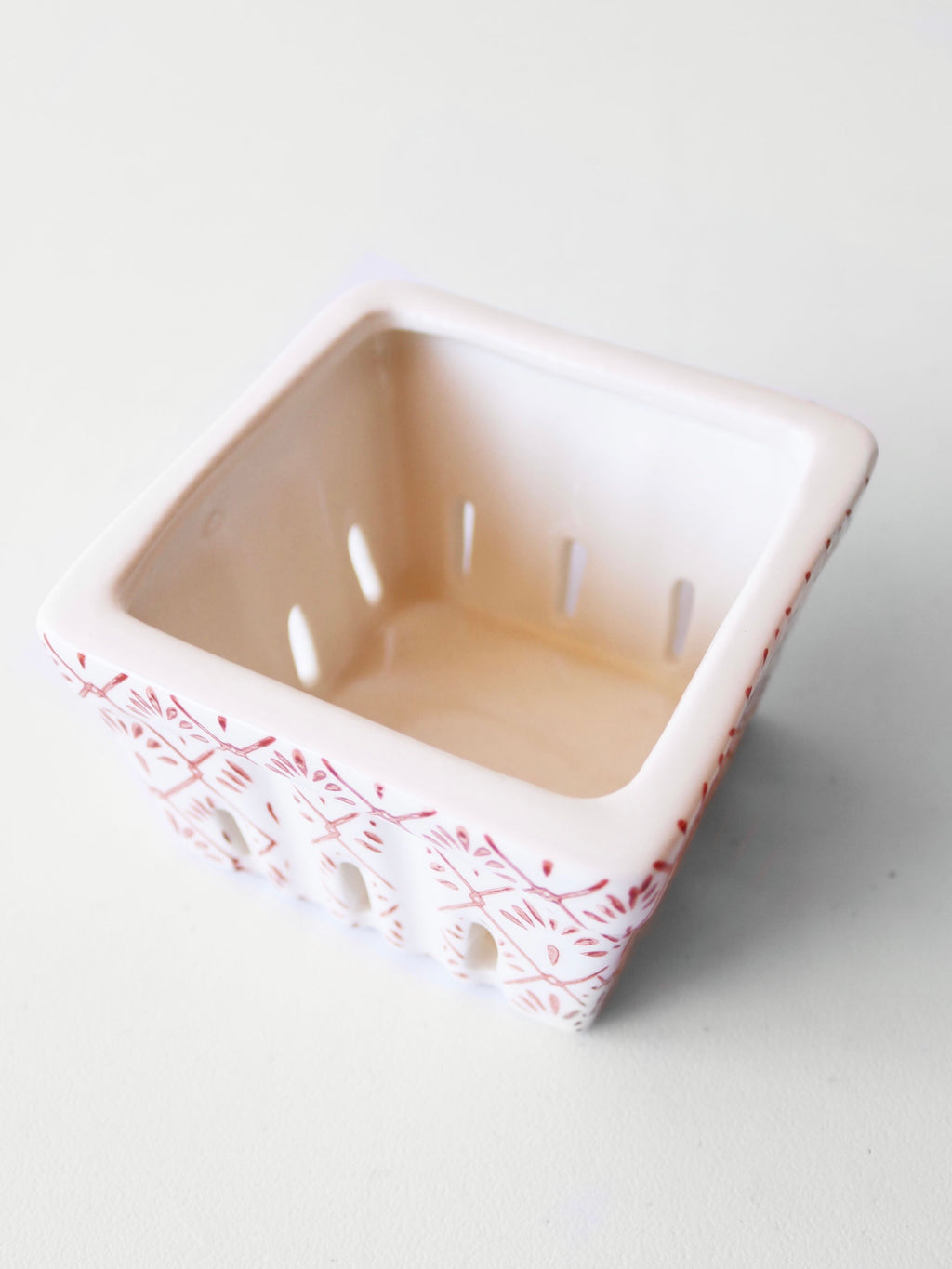 Decorative Ceramic Berry Basket