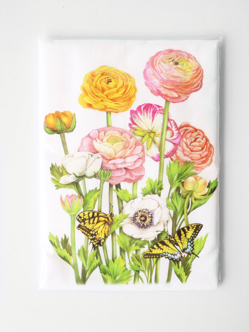 Flowers & Butterflies Flour Sack Towel