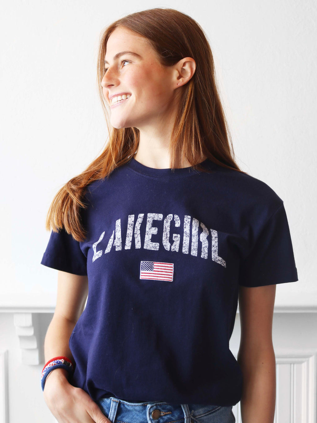 Lake Girl Flag Tee