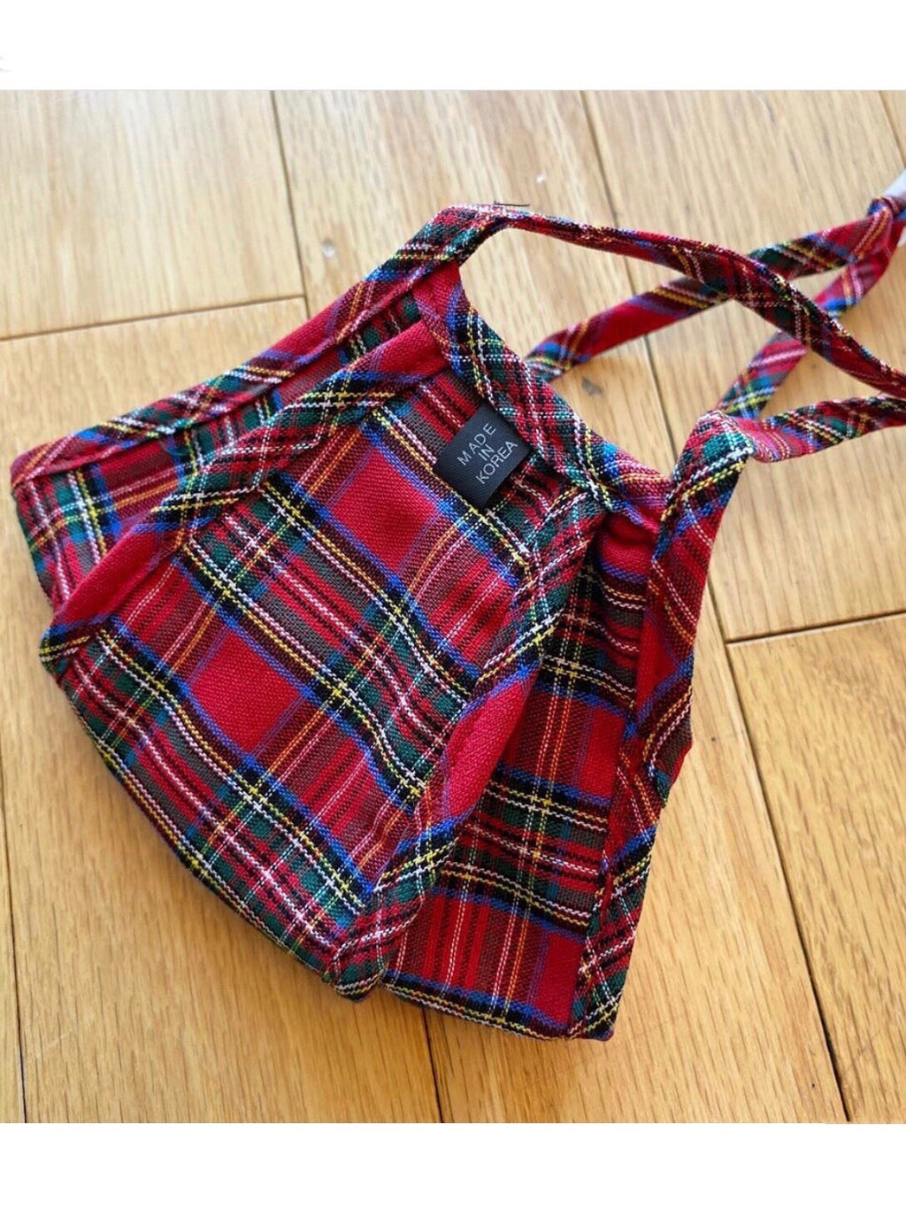 Red Tartan Plaid Face Mask