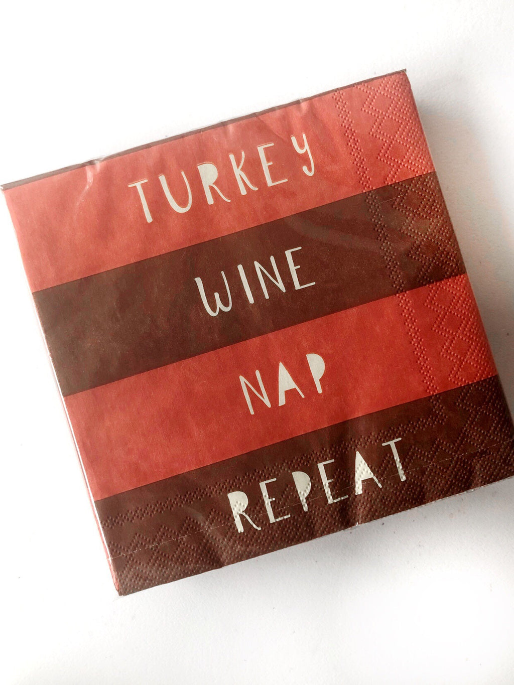 Turkey Wine Nap Repeat Cocktail Napkins