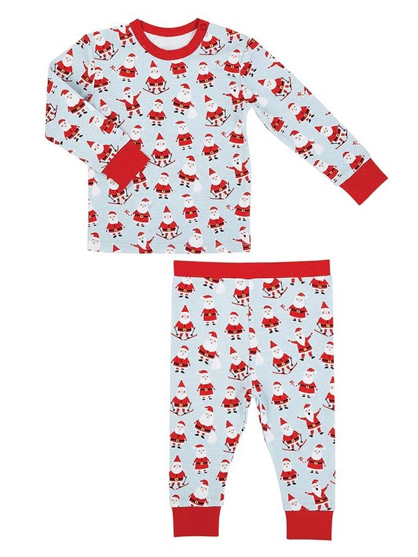 Santa 2pc Pajama Set, 6-12 M