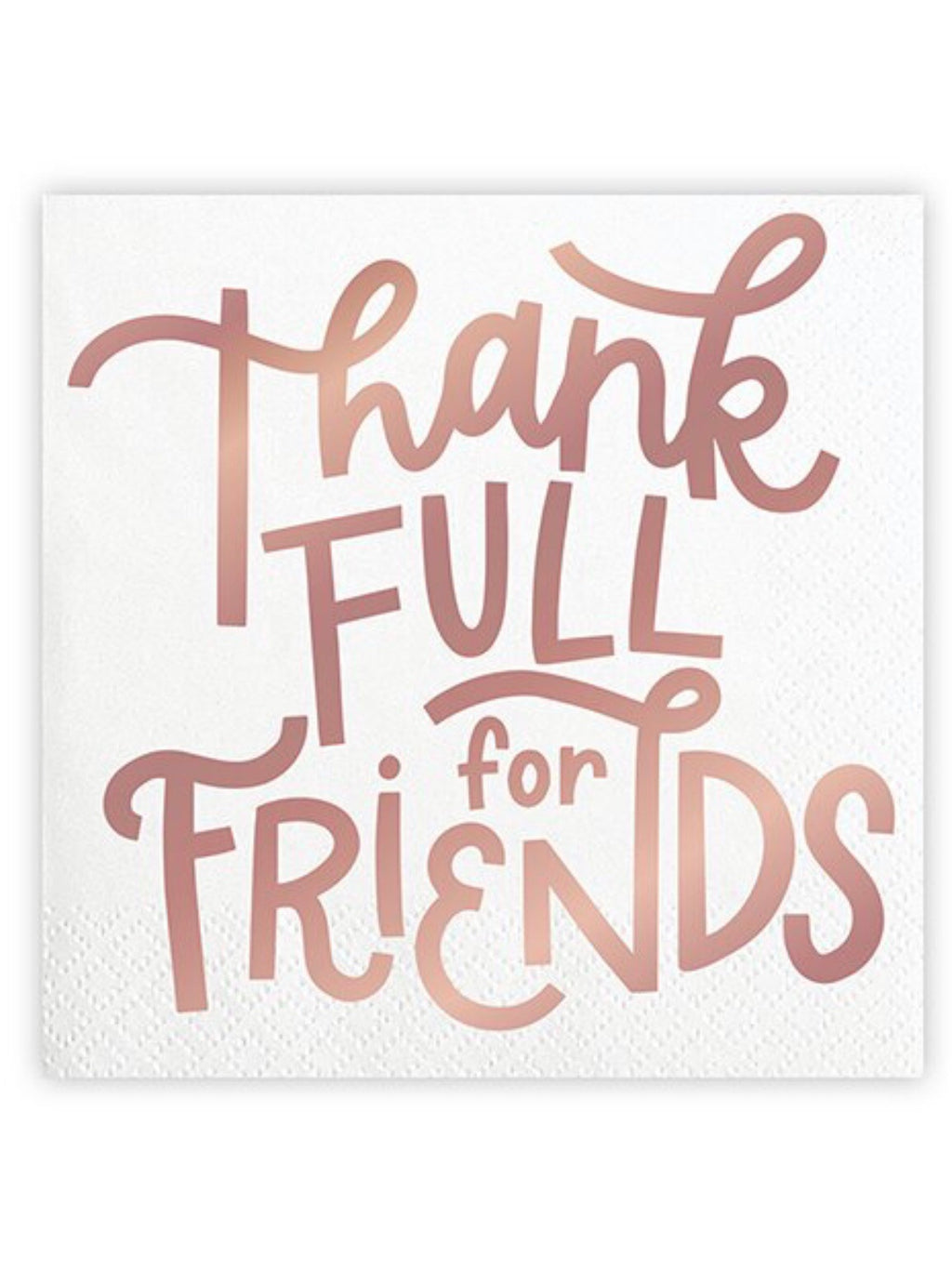 Thankfull For Friends Cocktail Napkins