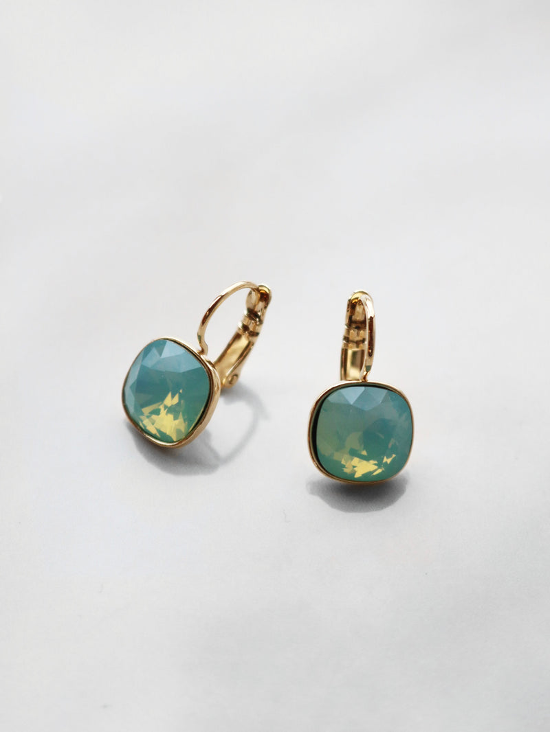 Precious Gem Drop Earrings - Mint