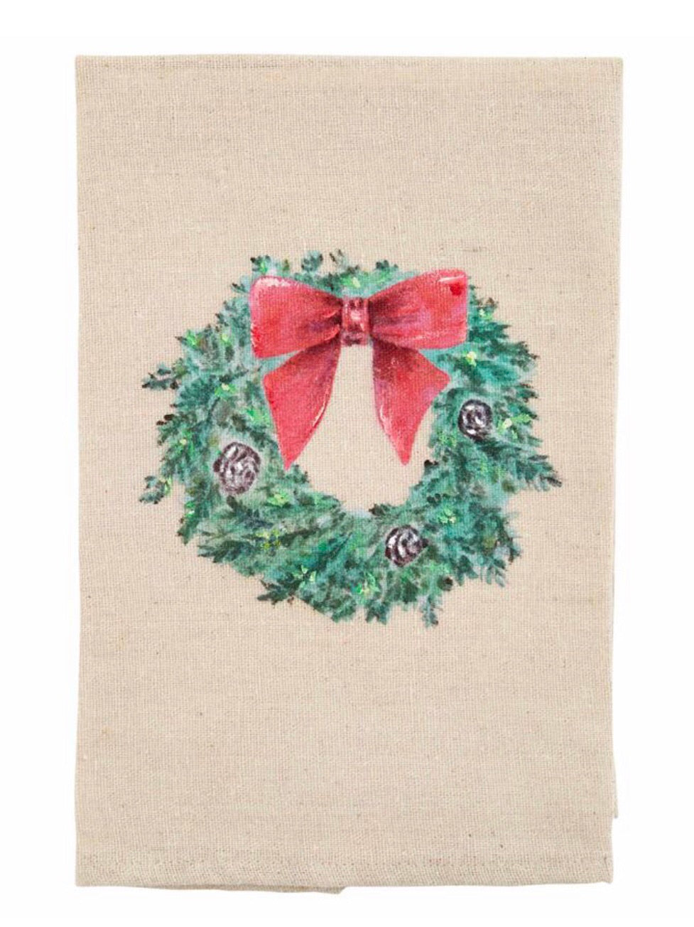 Painted Wreath Tea Towel