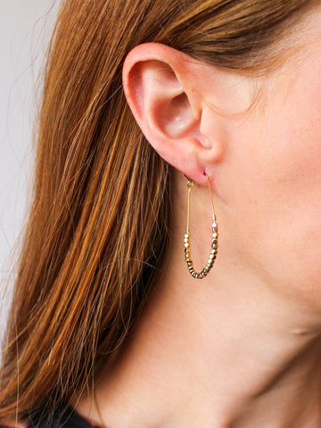 Waterfall Baguette Earrings