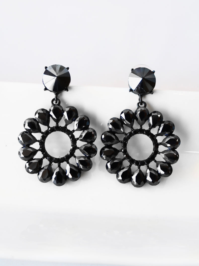 Radiant Night Statement Earrings