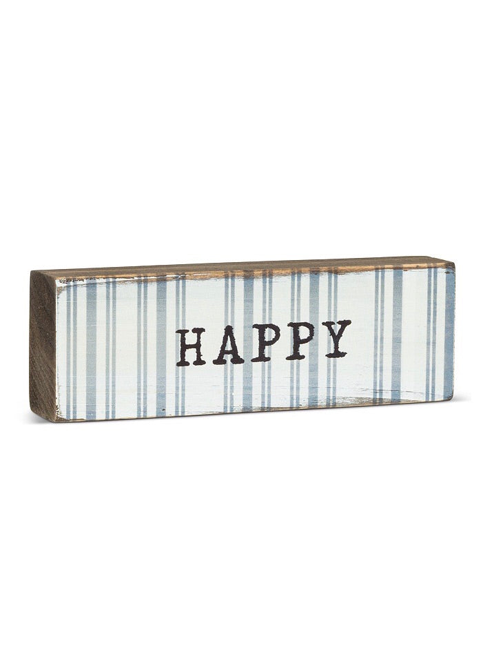 Happy Wooden Stackable Sign