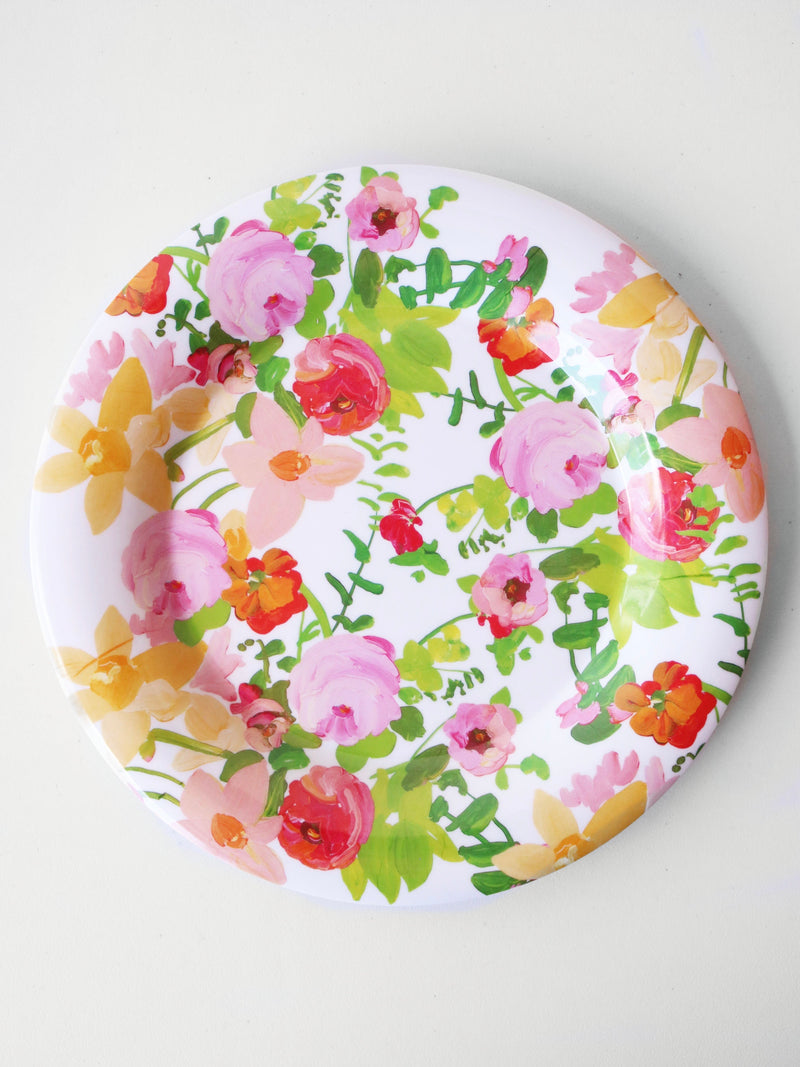 Full Bloom Melamine Plate