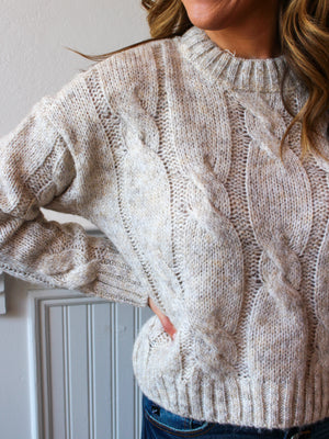 Only The Beginning Cream Sweater