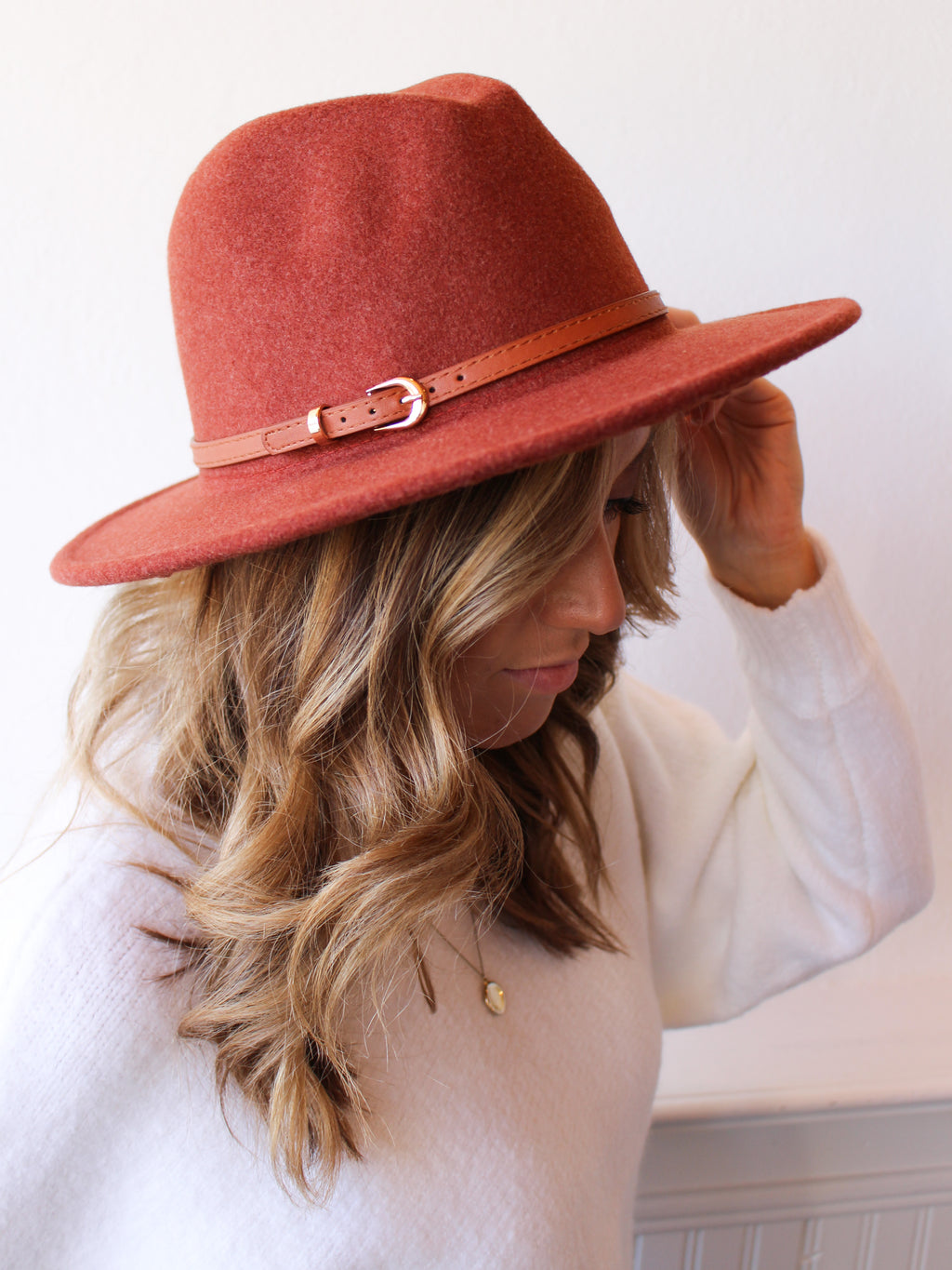 No Bad Hair Days Hat - Rust
