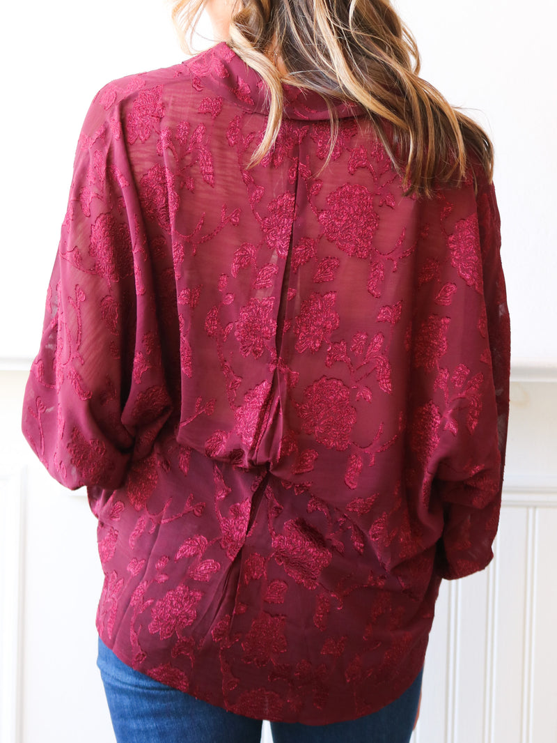 You Had Me At Merlot Blouse