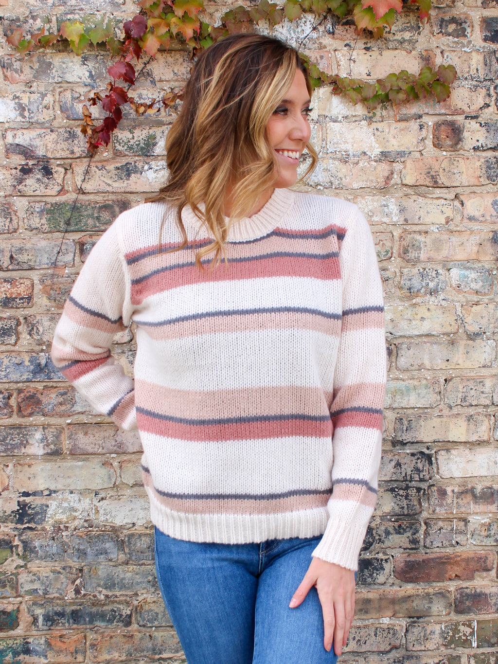 Wild Hearts Striped Sweater