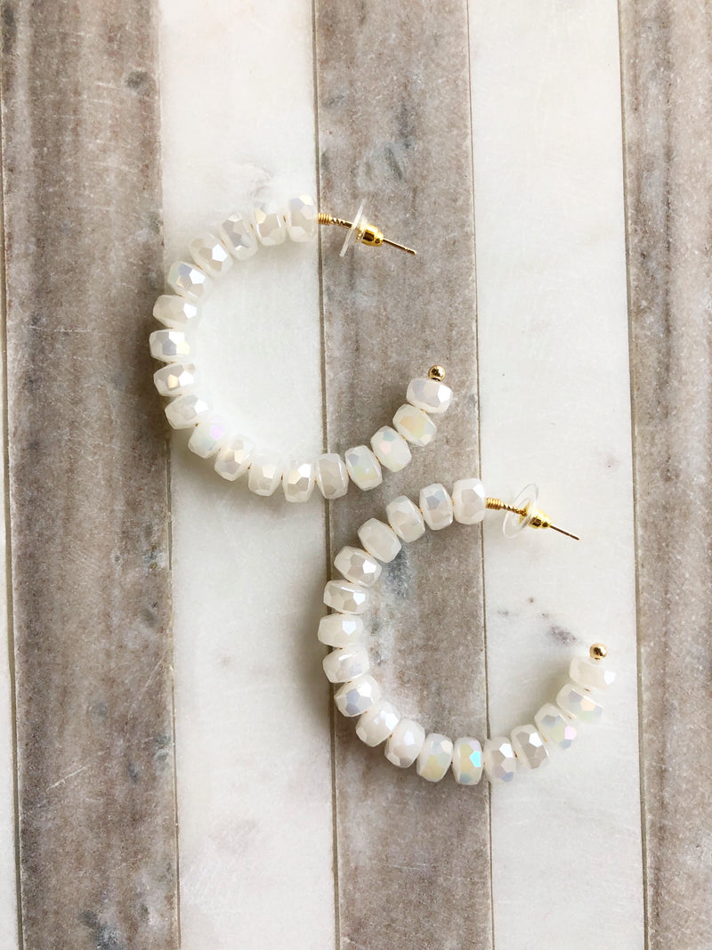 Medium Summer Shimmer Hoops