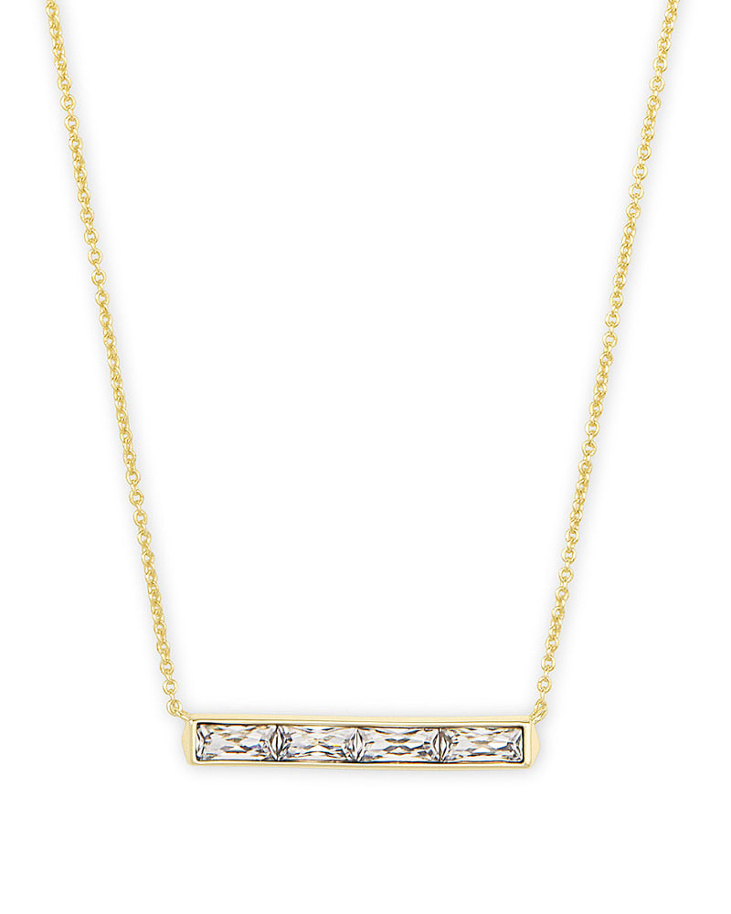 Kendra Scott Necklace & Earring Set- White Crystal