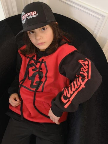 Chilly Gear Red and Black Hoodie