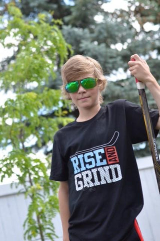 Rise and Grind Black T-Shirt