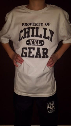 White Property of Chilly XXL Gear T-shirt