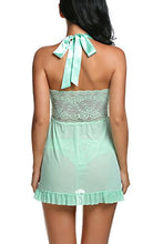 Load image into Gallery viewer, Avidlove Women Nightwear Lace Babydoll Strap Chemise Halter Lingerie